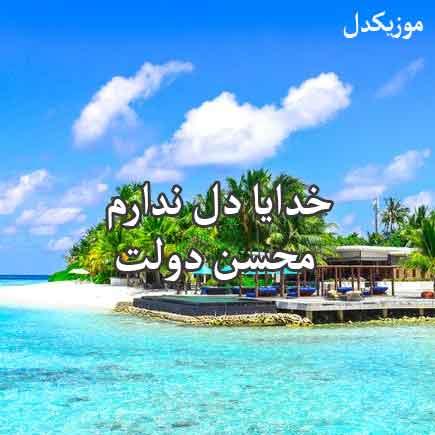 دانلود آهنگ خدایا دل ندارم غم افتاده به جانم محسن دولت / دوای درد من چیست بگو تا